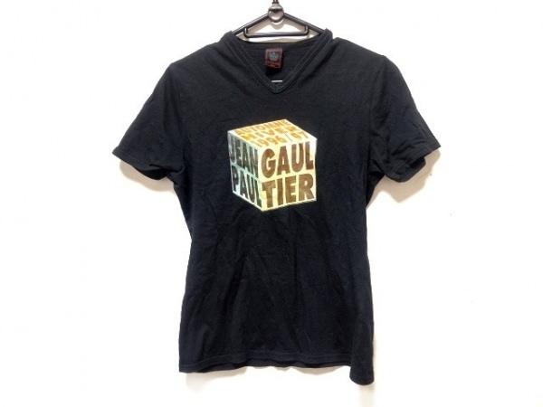 JeanPaulGAULTIER(ゴルチエ) 半袖Tシャツ レディース 黒×マルチ CLASSIQUE