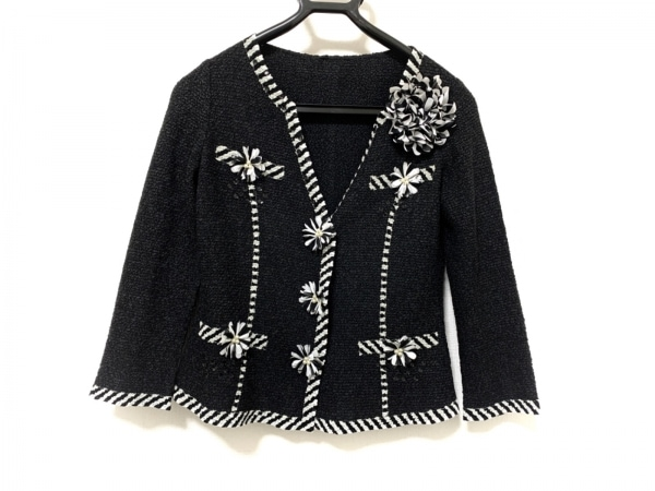 NOKO OHNO(ノコオーノ) ジャケット サイズ40 M レディース美品  黒×白