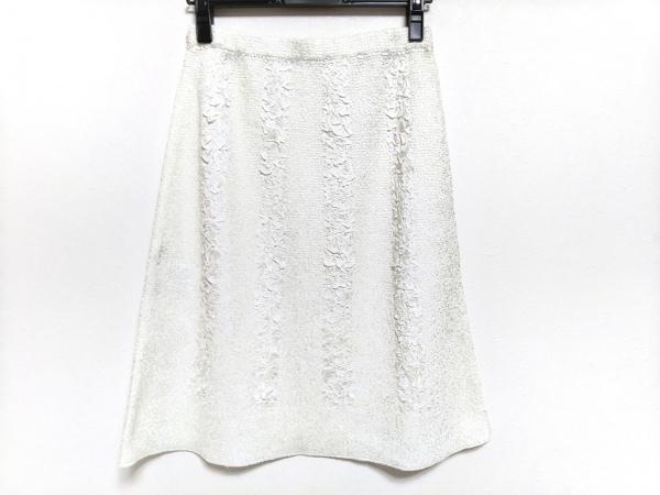 NOKO OHNO(ノコオーノ) スカート サイズ40 M レディース美品  白 ウエストゴム