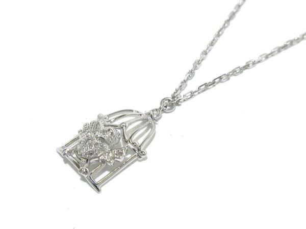 カルティエ ネックレス新品同様  - B3046100 K18WG×ダイヤモンド 鳥モチーフ