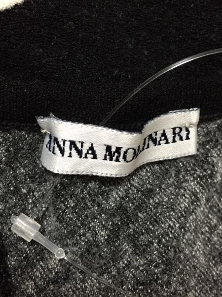 アンナモリナーリ 長袖セーター サイズ42 M レディース 黒×白×マルチ