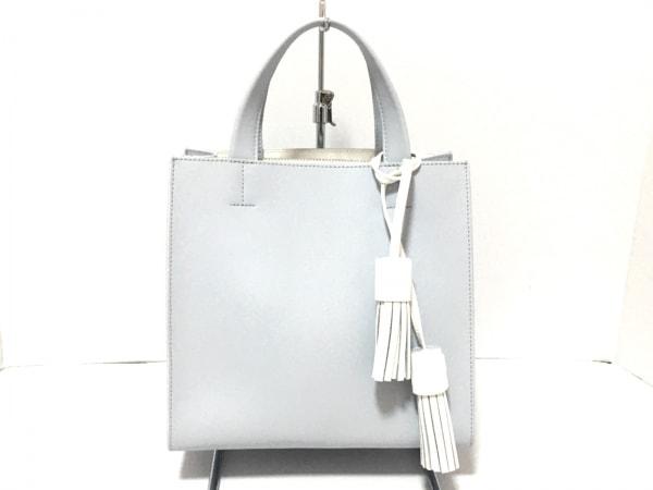 DIANA(ダイアナ) ハンドバッグ美品  ライトブルー×白 レザー