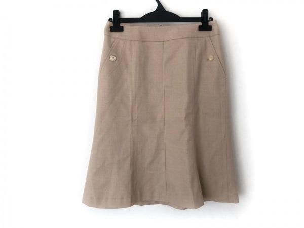 バーバリーロンドン スカート サイズ38 L レディース美品  ベージュ ラメ