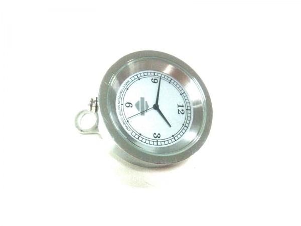 ハーレーダビッドソン 小物美品  シルバー 置時計(動作確認できず) 金属素材