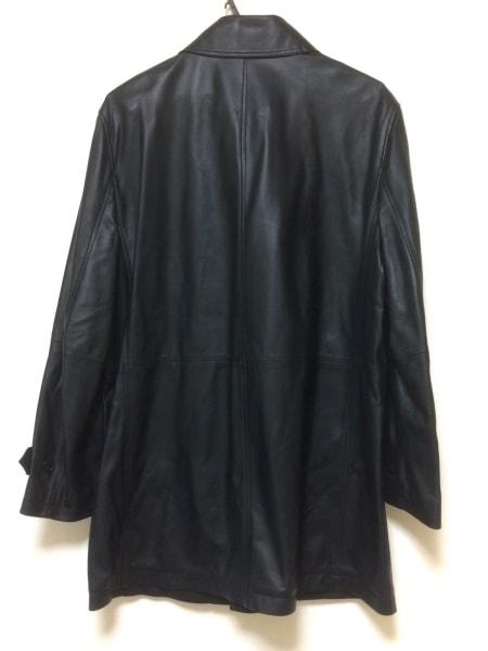 ロエベ コート サイズ50 XL メンズ美品  ネイビー レザー/春・秋物 2