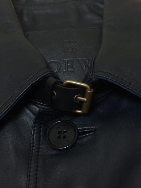 ロエベ コート サイズ50 XL メンズ美品  ネイビー レザー/春・秋物 6