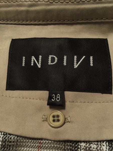 INDIVI(インディビ) トレンチコート サイズ38 M レディース美品  ベージュ 冬物