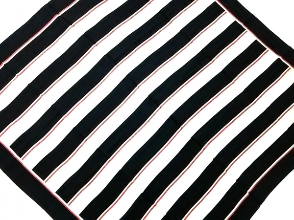 GALLARDAGALANTE(ガリャルダガランテ) スカーフ美品  黒×白×レッド ストライプ