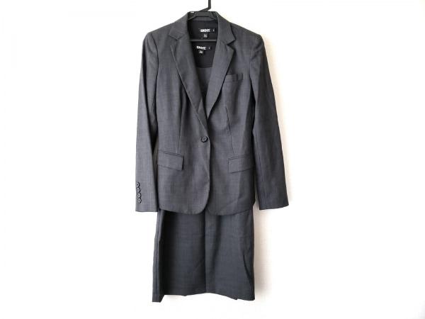 DKNY(ダナキャラン) ワンピーススーツ サイズ上2下4 レディース美品  グレー