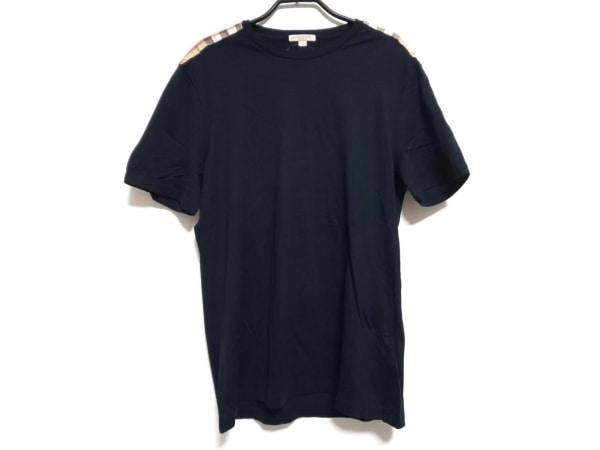 BURBERRY BRIT(バーバリーブリット) Tシャツ サイズL メンズ 黒×マルチ チェック柄