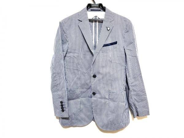 ブラックレーベルクレストブリッジ ジャケット サイズS メンズ美品  ネイビー×白