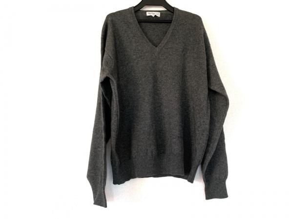 Burberry's(バーバリーズ) 長袖セーター メンズ グレー Vネック/カシミヤ