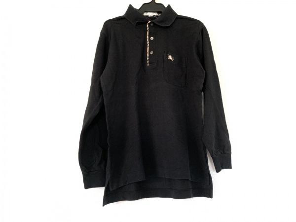 Burberry's(バーバリーズ) 長袖ポロシャツ メンズ 黒