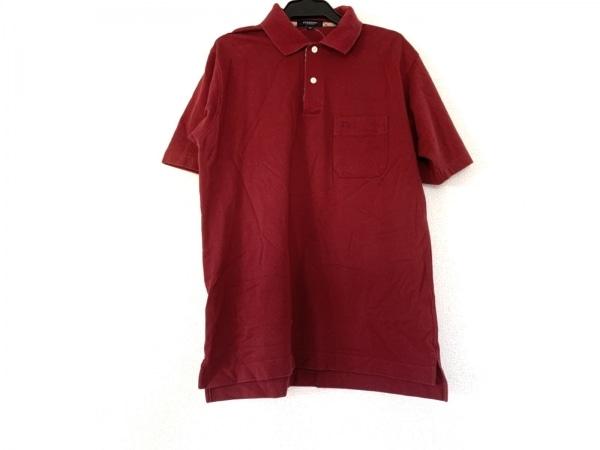 Burberry LONDON(バーバリーロンドン) 半袖ポロシャツ サイズM メンズ ボルドー