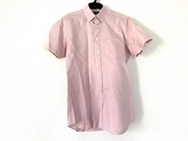 Burberry LONDON(バーバリーロンドン) 半袖シャツ サイズM メンズ ピンク