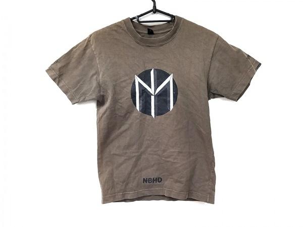 NEIGHBORHOOD(ネイバーフッド) 半袖Tシャツ レディース カーキ×黒×アイボリー