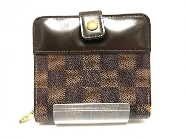 LOUIS VUITTON(ルイヴィトン) 2つ折り財布 ダミエ コンパクト・ジップ N61668 エベヌ