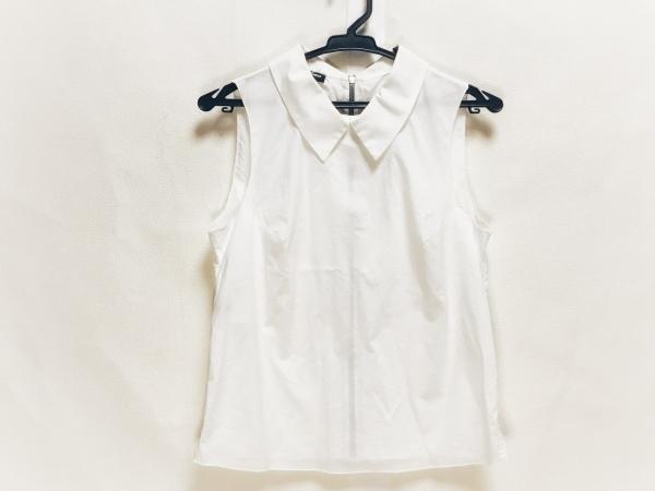ジルサンダー ノースリーブシャツブラウス サイズ34 XS レディース美品  白 NAVY