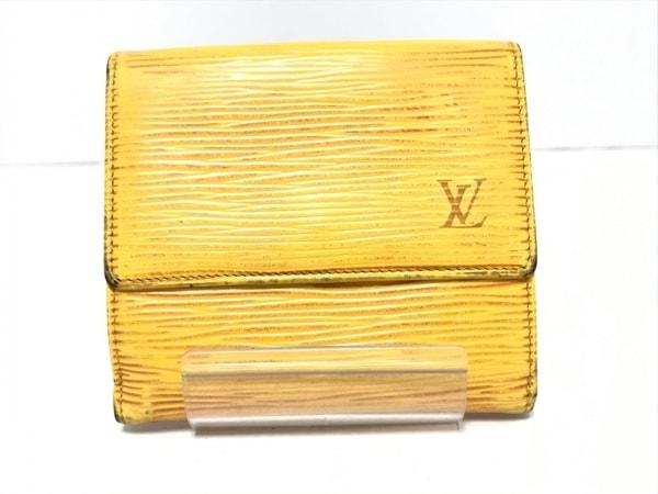 ルイヴィトン 3つ折り財布 エピ ポルトトレゾールエテュイパピエ M63719 ジョーヌ