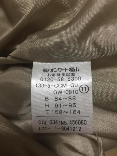 ジェイプレス コート サイズ11 M レディース美品  ライトブラウン×ダークブラウン