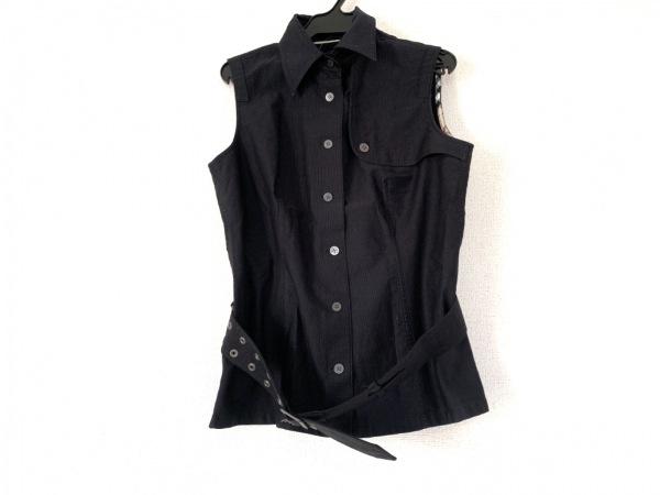 バーバリーロンドン ノースリーブシャツブラウス サイズ40 L レディース 黒