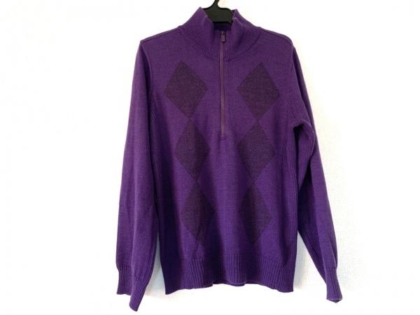 BURBERRYGOLF(バーバリーゴルフ) 長袖セーター サイズ3 L レディース パープル