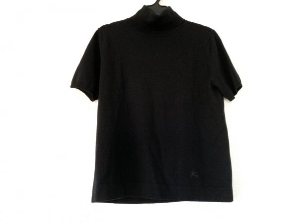 バーバリーロンドン 半袖セーター サイズ2 M レディース 黒 タートルネック