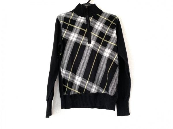 バーバリーロンドン 長袖セーター サイズ2 M レディース美品  黒×イエロー×白