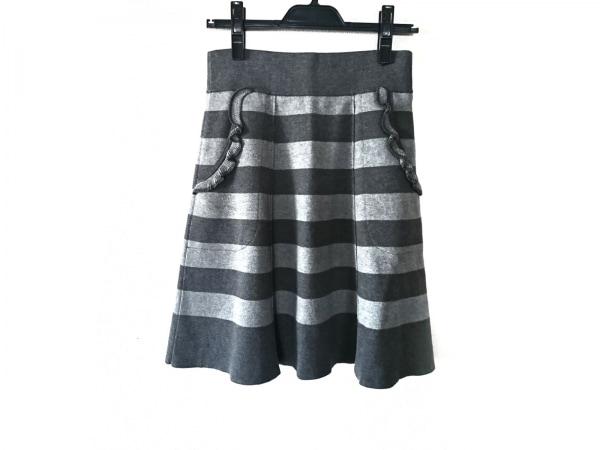 ソニアリキエル スカート サイズ38 M レディース美品  ライトグレー×グレー