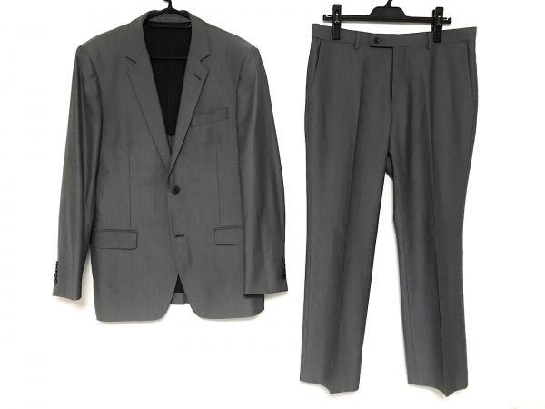 カルバンクライン シングルスーツ サイズ40 M メンズ グレー シングル/ストライプ