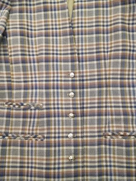 レリアン スカートスーツ サイズ11 M レディース ブラウン×ネイビー×マルチ