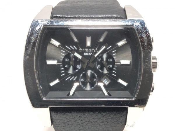 DIESEL(ディーゼル) 腕時計 DZ-4140C メンズ 革ベルト/クロノグラフ 黒