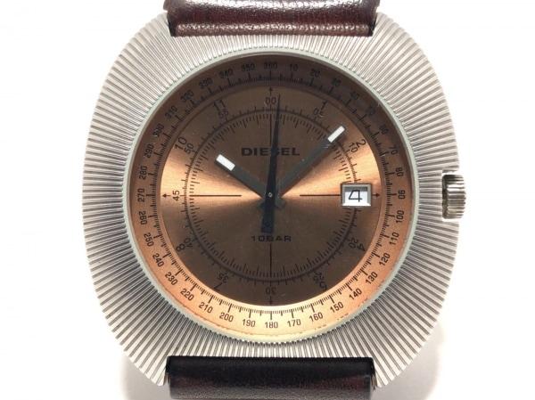 DIESEL(ディーゼル) 腕時計 DZ-1130 メンズ 革ベルト ライトブラウン