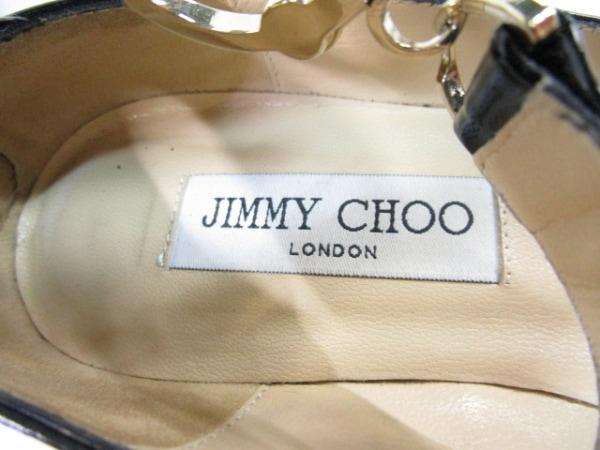 JIMMY CHOO(ジミーチュウ) パンプス 35 レディース 黒 エナメル(レザー)