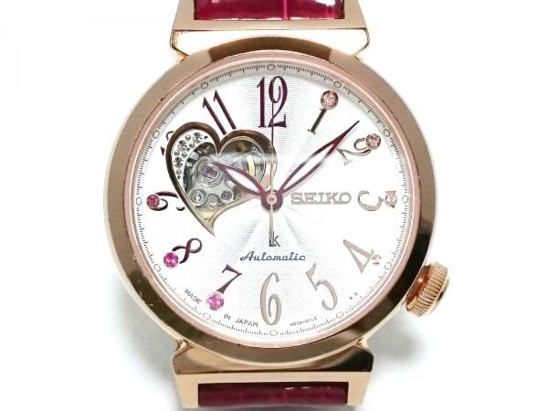 SEIKO(セイコー) 腕時計 ルキア 4R38-01C0 レディース 裏スケ/ラインストーン/ハート