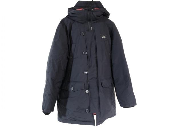 ラコステ ダウンコート サイズ50 XL メンズ ネイビー ジップアップ/冬物/L!VE