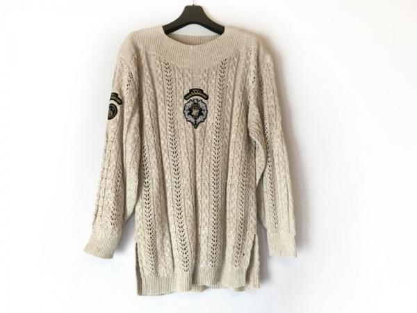 バレンザポースポーツ 長袖セーター サイズM メンズ ベージュ×黒×マルチ