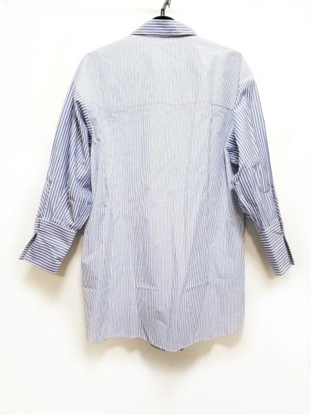 ミラオーウェン チュニック サイズF レディース美品  ブルー×白 ストライプ