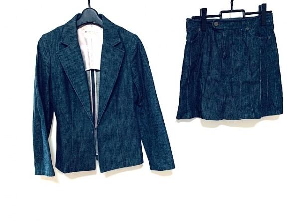 グレースコンチネンタル スカートスーツ サイズ38 M レディース美品  ネイビー