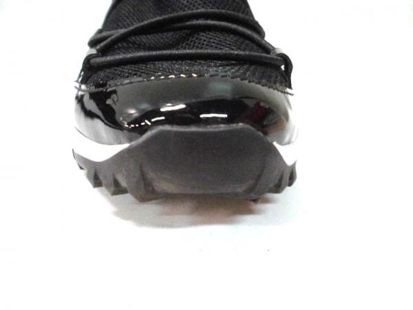 ジミーチュウ スニーカー レディース 黒 メッシュ 化学繊維×エナメル(レザー)