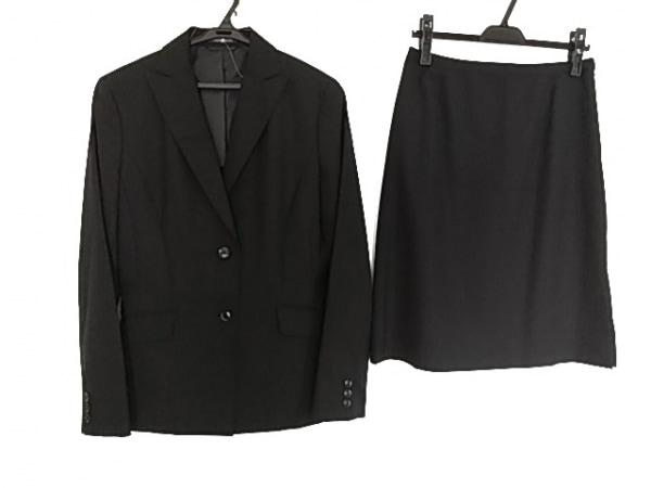 ニューヨーカー スカートスーツ サイズ11 M レディース美品  黒×ライトグレー