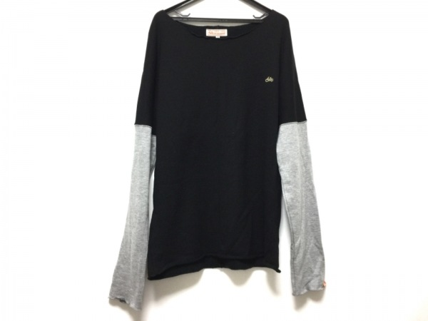 SOU・SOU(ソウソウ) 長袖カットソー サイズM メンズ美品  黒×グレー le coq sportif