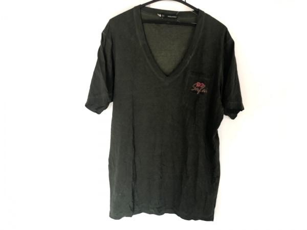 DSQUARED2(ディースクエアード) 半袖Tシャツ サイズL メンズ カーキ Vネック