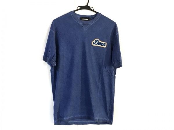 DSQUARED2(ディースクエアード) 半袖Tシャツ サイズL メンズ ネイビーブルー