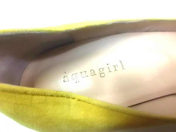 aquagirl(アクアガール) パンプス 36 1/2 レディース イエロー スエード
