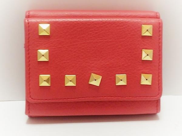 1metre carre(アンメートルキャレ) 3つ折り財布美品  ピンク レザー