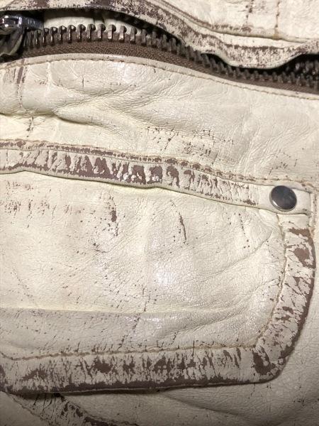 ディースクエアード ライダースジャケット サイズ40 M レディース アイボリー
