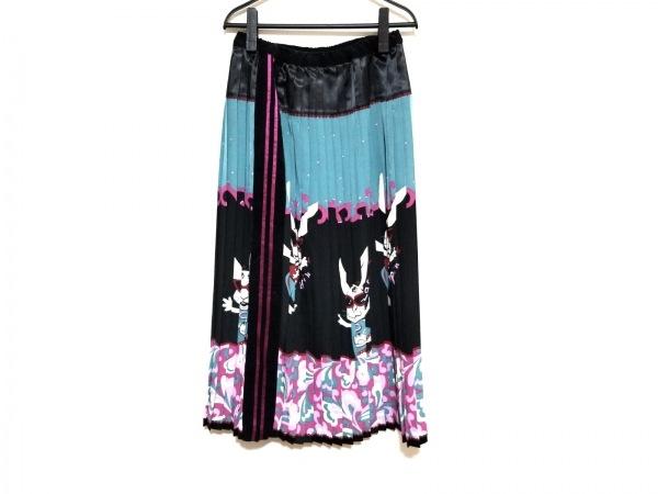 OLLEBOREBLA(アルベロベロ) ロングスカート レディース美品  ライトブルー×黒