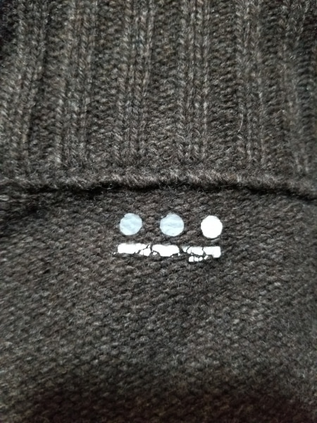 three dots(スリードッツ) ブルゾン メンズ美品  ダークブラウン ニット/冬物