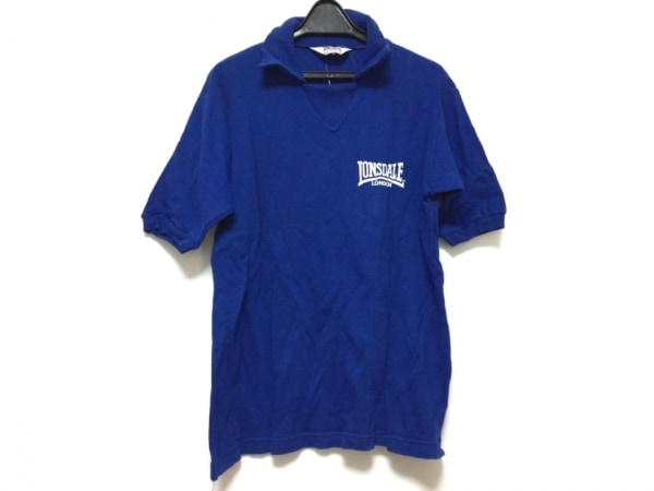 LONSDALE(ロンズデール) 半袖カットソー メンズ ブルー×白